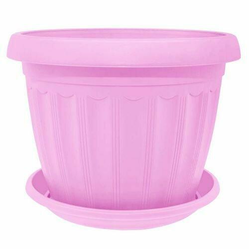 Терра с поддоном 10х8 розовый УКР (25шт/уп)