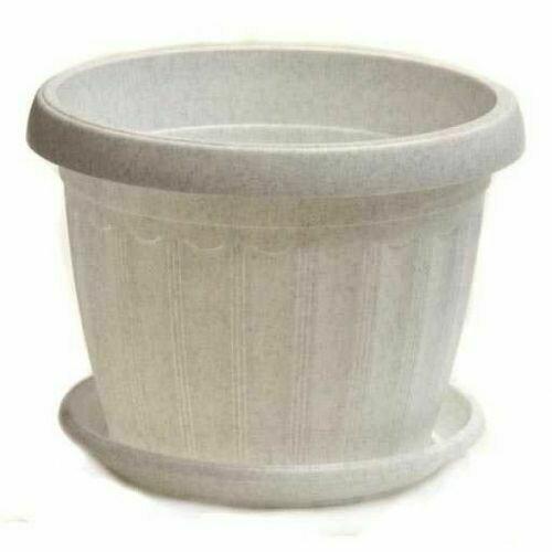 Терра с поддоном 8х6,5 мрамор УКР (20шт/уп)
