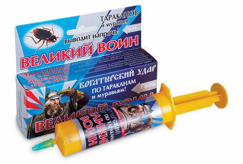 Гель Великий воин от тар и муравьев Новый синий 45гр ВХ (60шт)