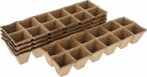 Горшочки торфяные 50х50 кв. блок по 12яч. (уп. 120шт) Экоторф