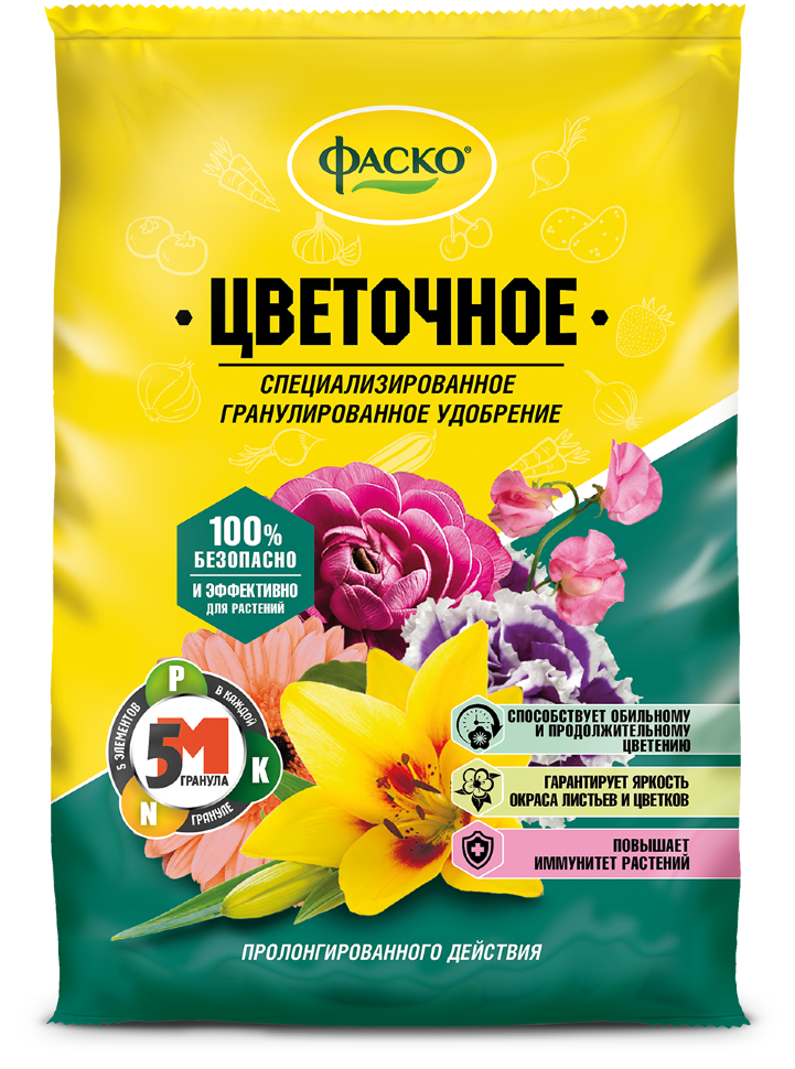 Для Цветов 1кг (гранулиров. минер) Фаско (20)