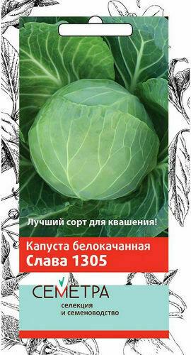 Капуста б/к Слава 1305 (Семетра)  0,5гр П+
