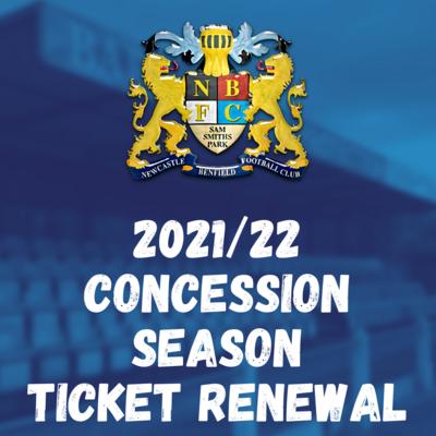 2021/22 CONCESSION SEASON TICKET RENEWAL