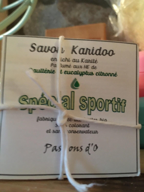 Savon solide parfumé spécial sportif