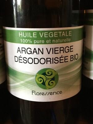 Huile végétale d'Argan vierge désodorisée bio
