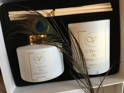 Coffret bougie et tiges parfumées LILY ROSE