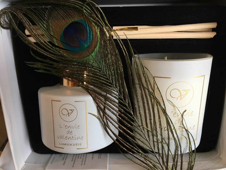 Coffret bougie et tiges parfumées L'AMOUR D'ETE