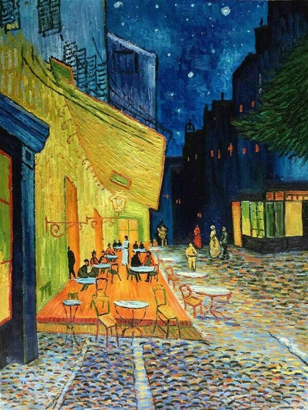 Cafe Terrace by Night - Vincent van Gogh Poster
