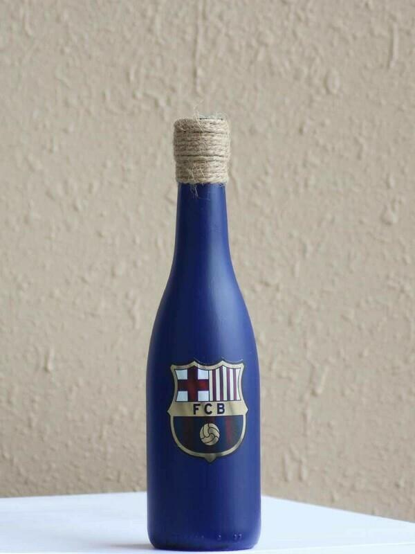 Handpainted FC Barcelona Bottle