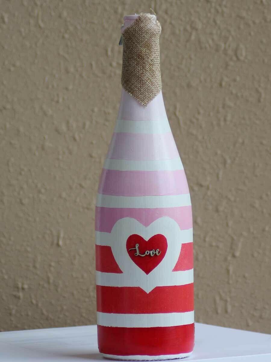 Handpainted Love Bottle
