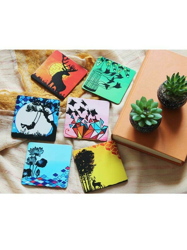 Handcrafted Silhouettes Coaster