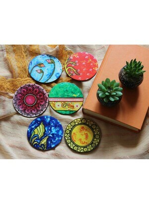 Hancrafted Patachitra Round Coasters