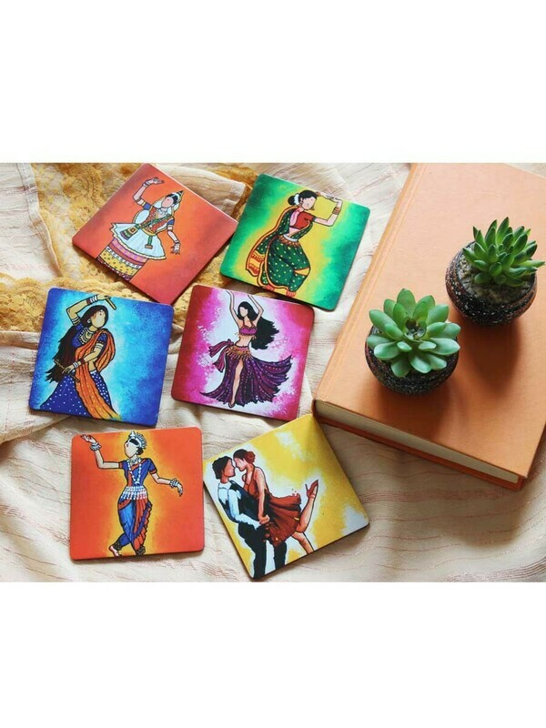 Handcrafted Dance Theme Coasters