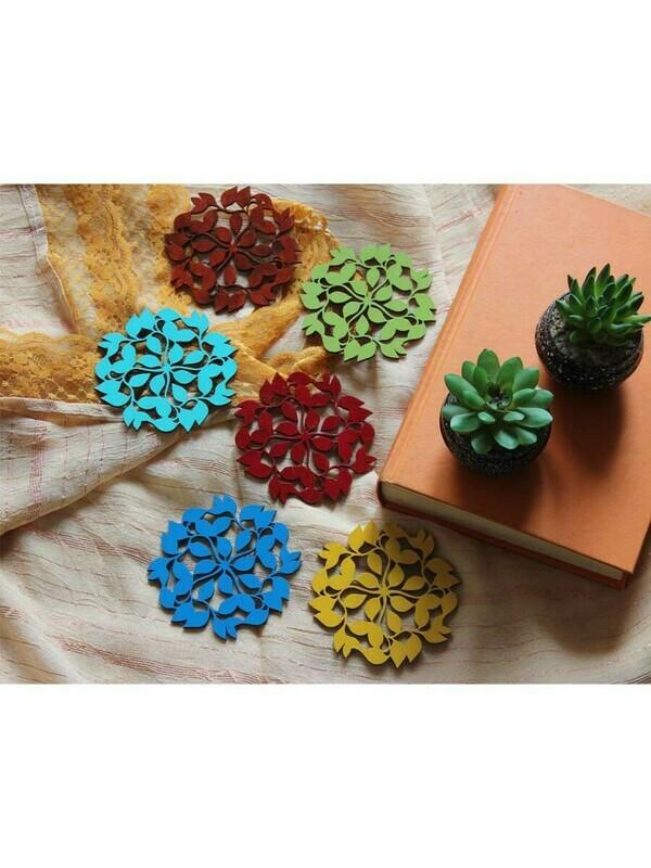 Handpainted Leaf Coasters