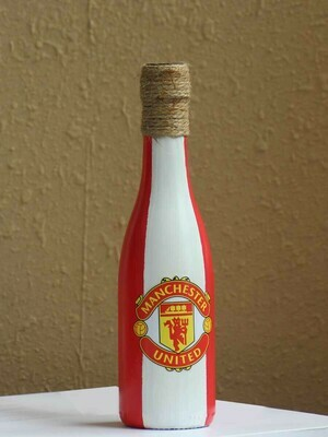Handpainted Man Utd Bottle