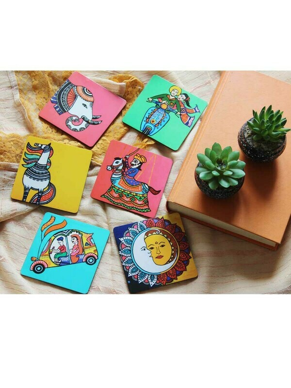 Handcrafted India Theme Coasters