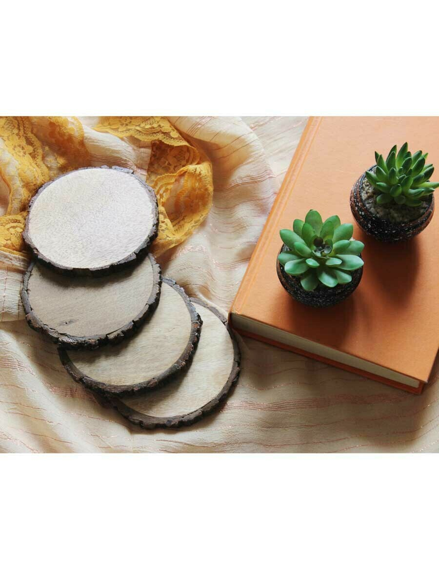 Mango Wood Round Coasters