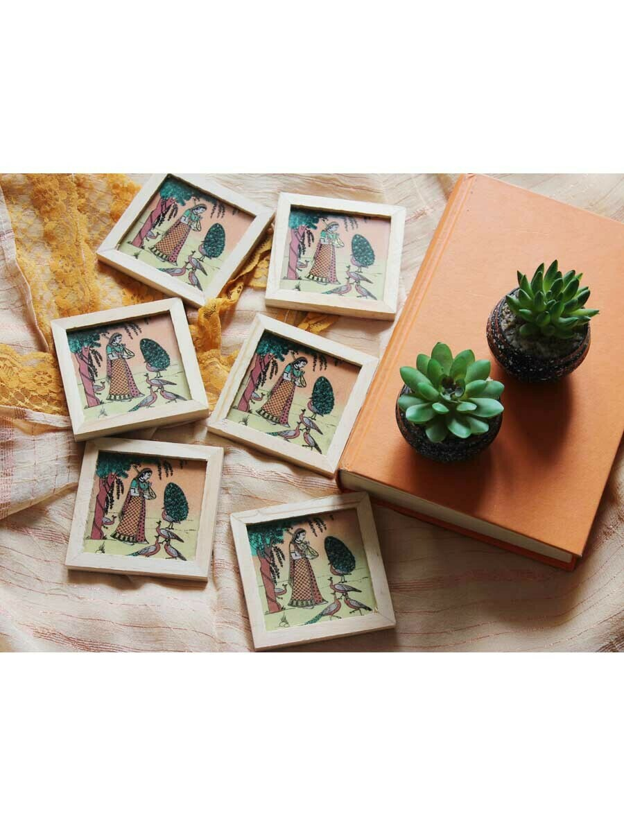 Handpainted Square Frame Coasters
