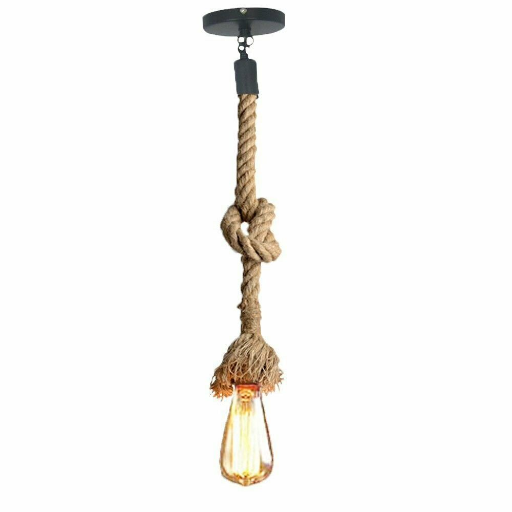 Rope Hanging Pendant Light