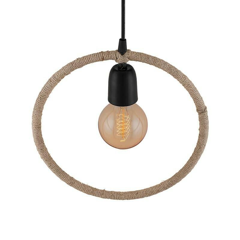 Round Rope Hanging Pendant Light