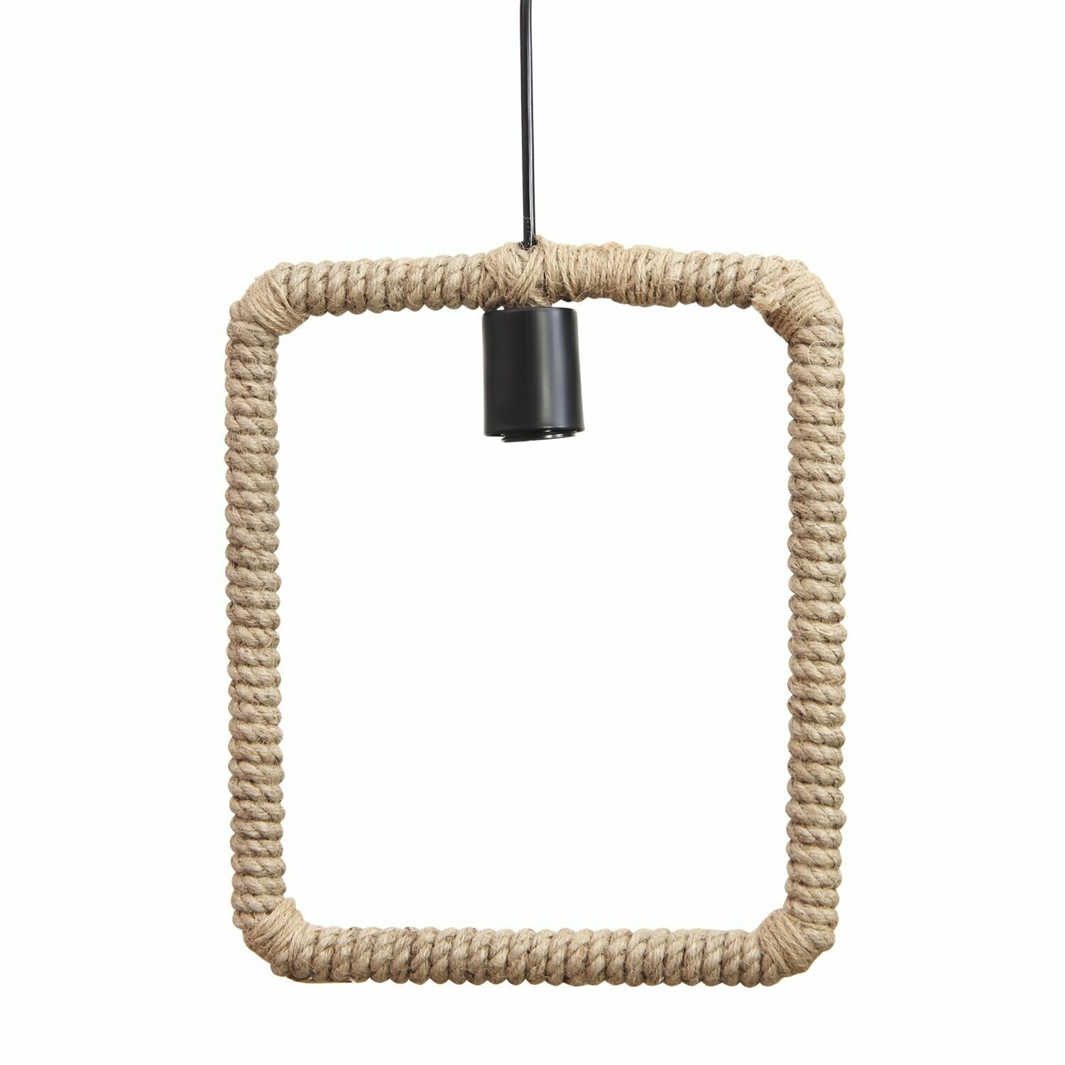 Square Rope Hanging Pendant Light