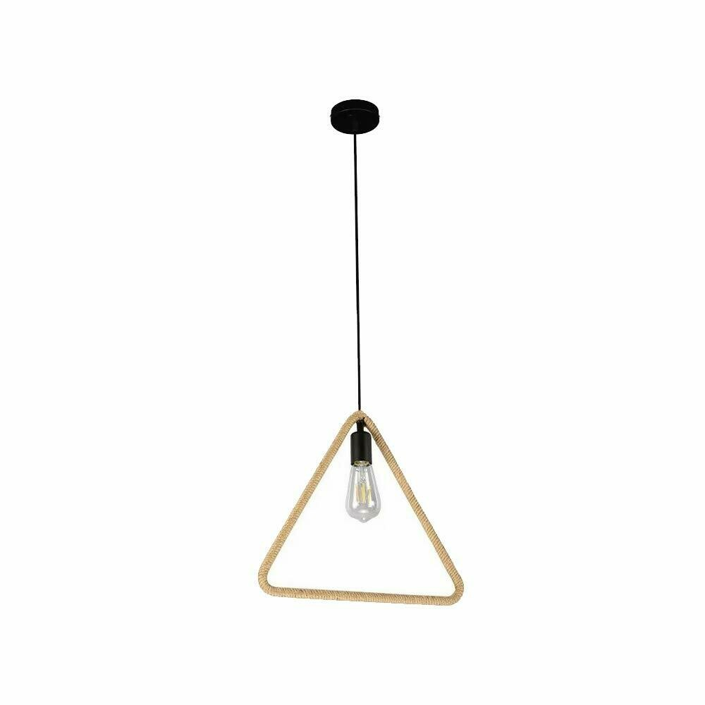 Triangle Rope Hanging Pendant Light