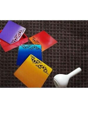 Handpainted Motif Coasters