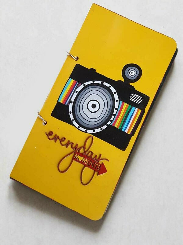 Handpainted Photography Wooden Journal