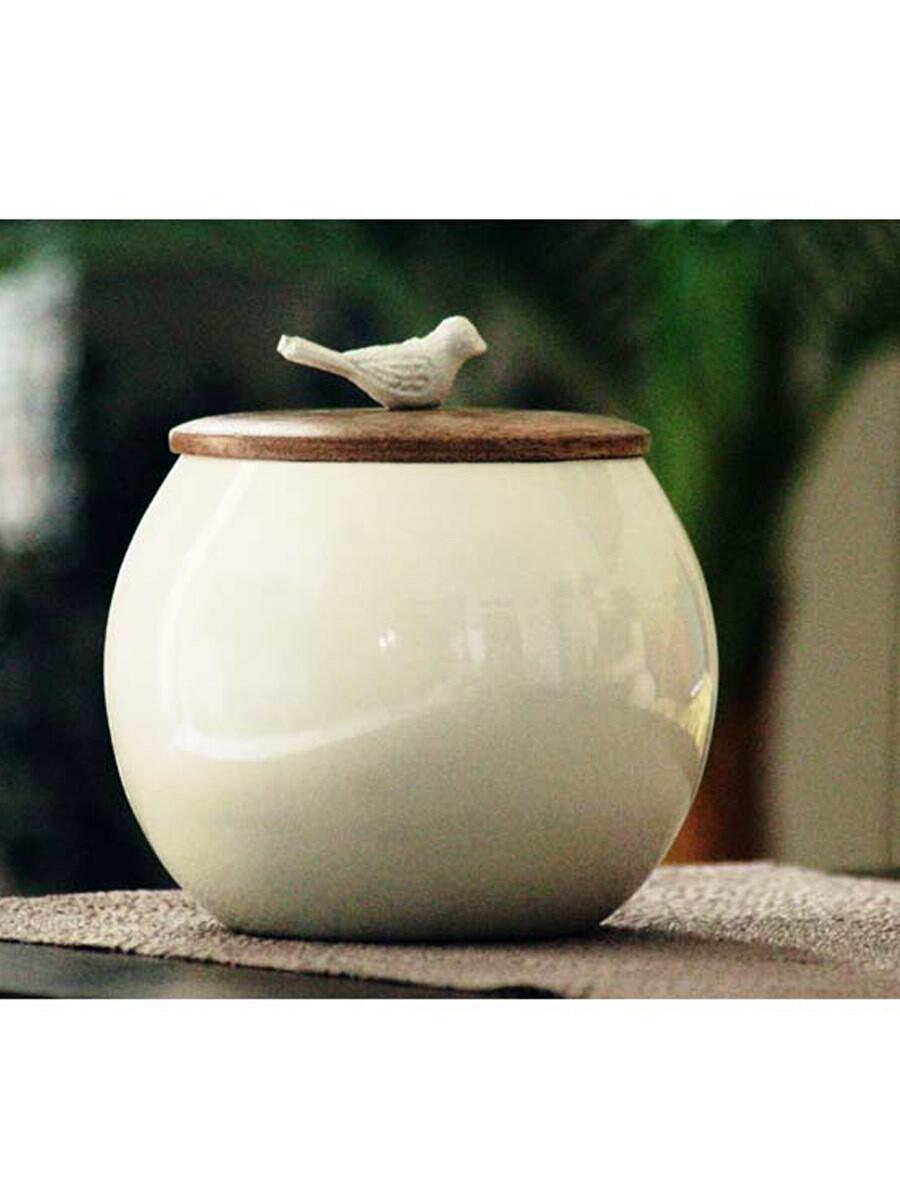 Bird Lid Iron Round Pot