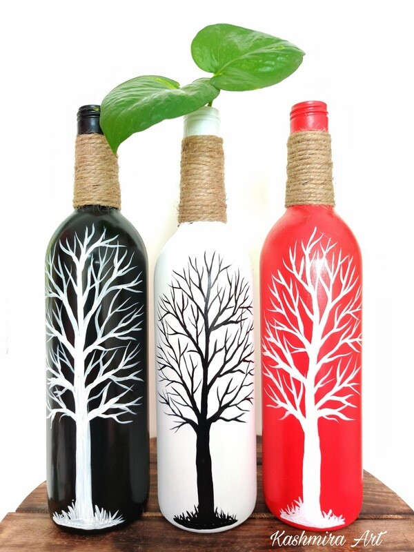 Black Tree Bottle Vase