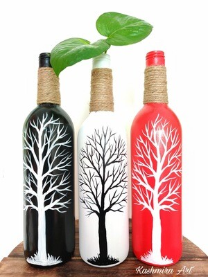Black Tree Bottle Vase