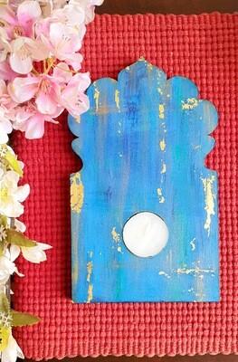 Jharokha Gold leaf Tealight Candle Holder