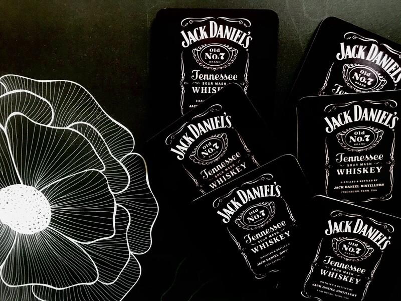 Jack Daniel Coasters Gold