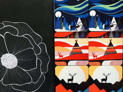 Handmade Reindeer Coaster