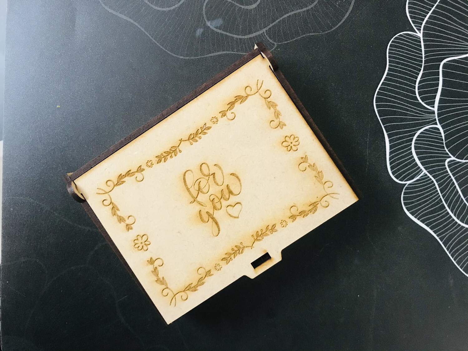 Multipurpose Small Wooden Engraved Box