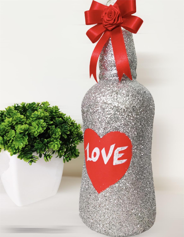Sparkling Love Bottle Lamp