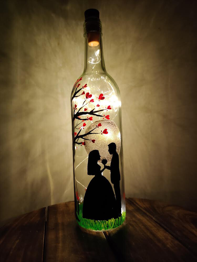 Couple Dance Bottle Lamp