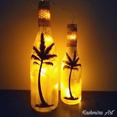 Palm Tree Bottle Set