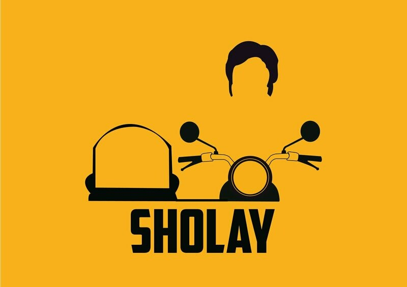 Sholay Movie Wallpaper Art