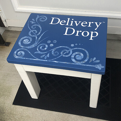 Ocean Blue Top/White Base Delivery Drop™ - Premade