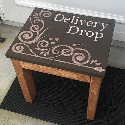 Med Brown Stain and Dark Brown Painted Top Delivery Drop™ - Premade