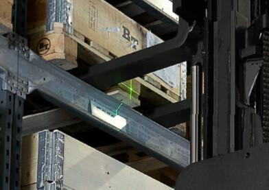 Laser verde indicador de altura de horquillas