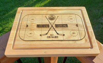 Hockey Style Cutting Board - Logo Optional