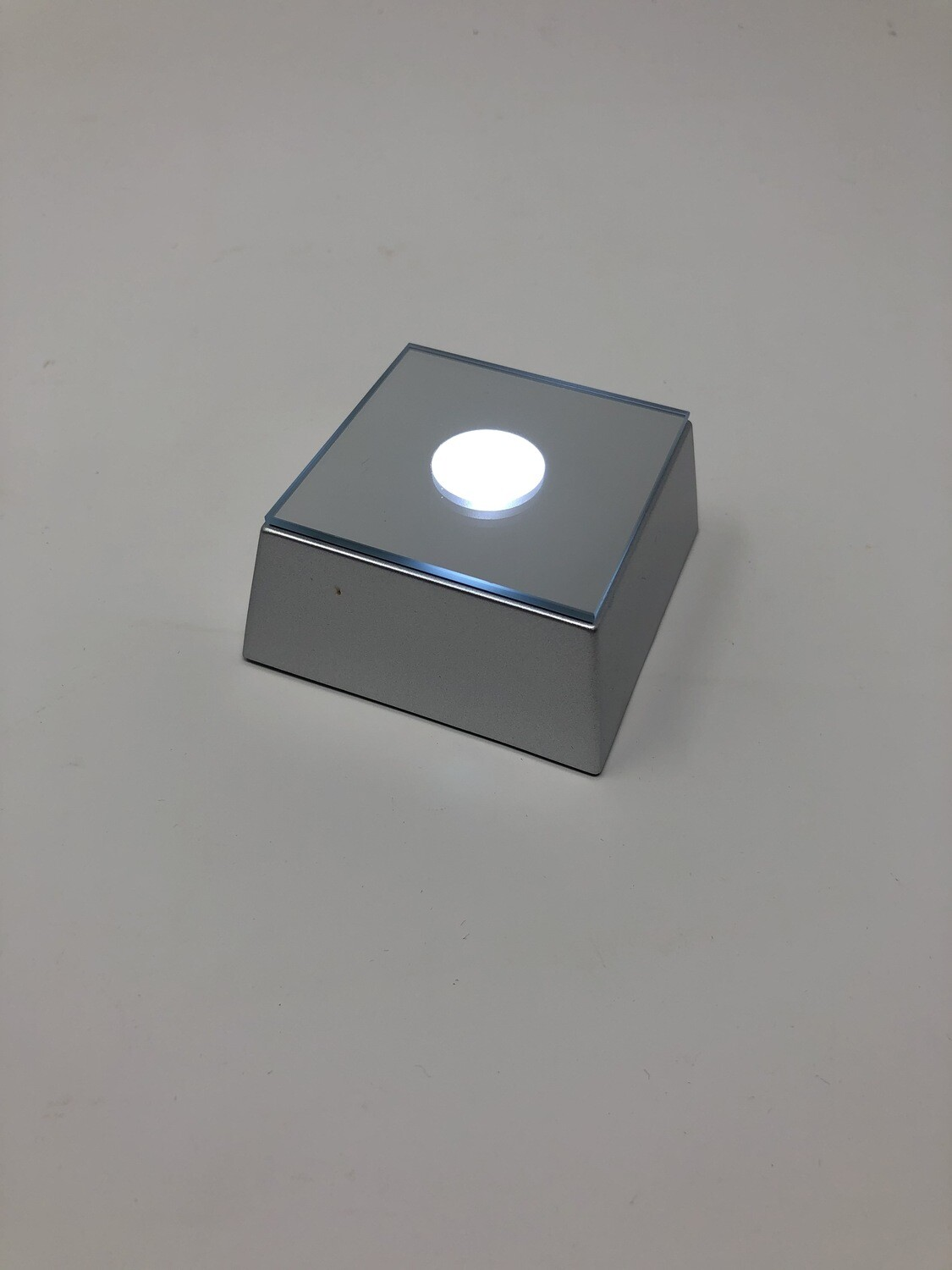 LED Square Base (Silver)