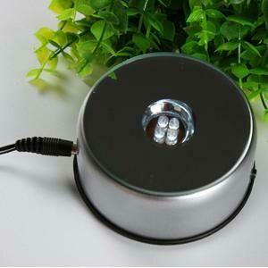 LED Round Rotating Base (Silver)