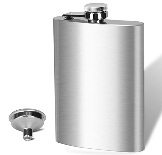 Personalized Etched Flask - Stainless Steel - 8 oz