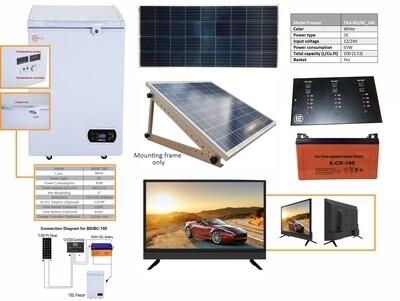 100L Solar Chest Freezer & 24 Inch Kit