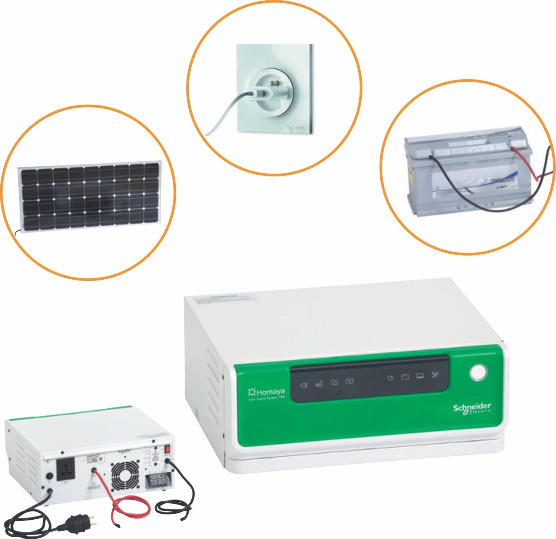 Schneider HOMAYA Hybrid Inverter Home 850VA