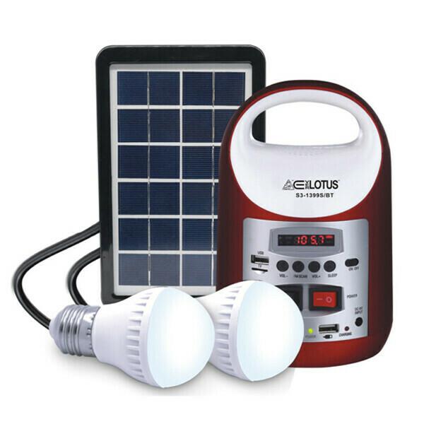 Ever Lotus Mini Portable Solar System with BT Speaker