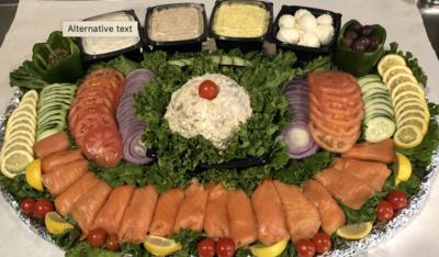 Nova & Cream Cheese Platter (per person - min 10)
